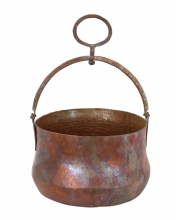 Moroccan Copper Hammam Bucket Vintage Large Antique Hammered Height 17 cm Diameter 26 cm CHB3